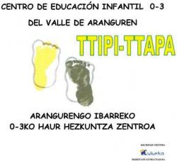 Imagen Plazo Inscripción Curso 2021-2022 del Centro de Educación Infantil 0 a 3 del Valle de Aranguren Ttipi-Ttapa