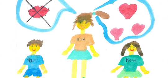 """Imagen """"Crecer con miedo: Niños y niñas ante la violencia de género"""" Erakusketa"""